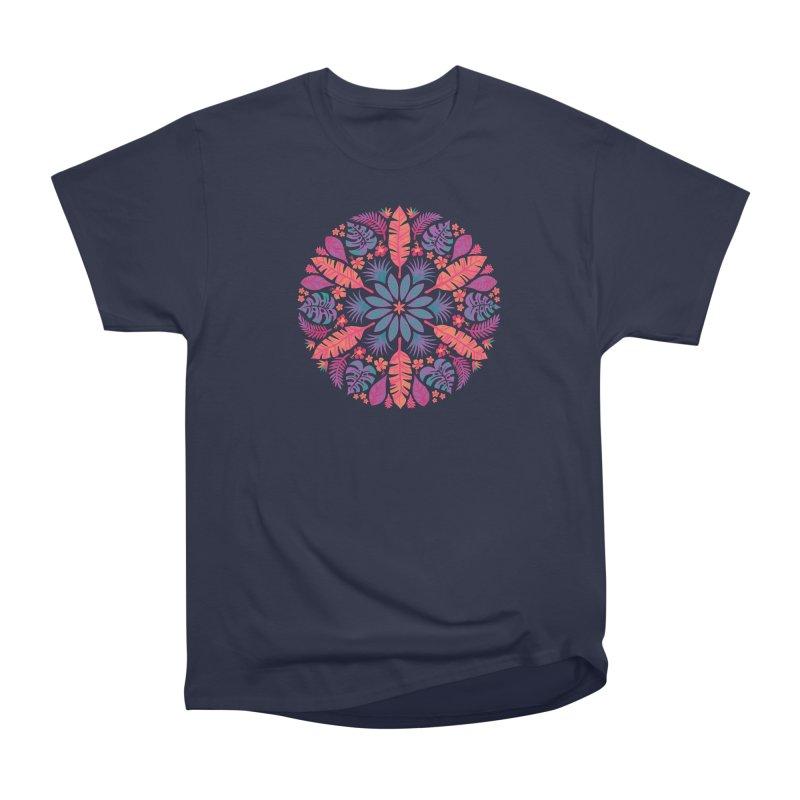 Technicolour Tropical Sun Men's Heavyweight T-Shirt by Waynem
