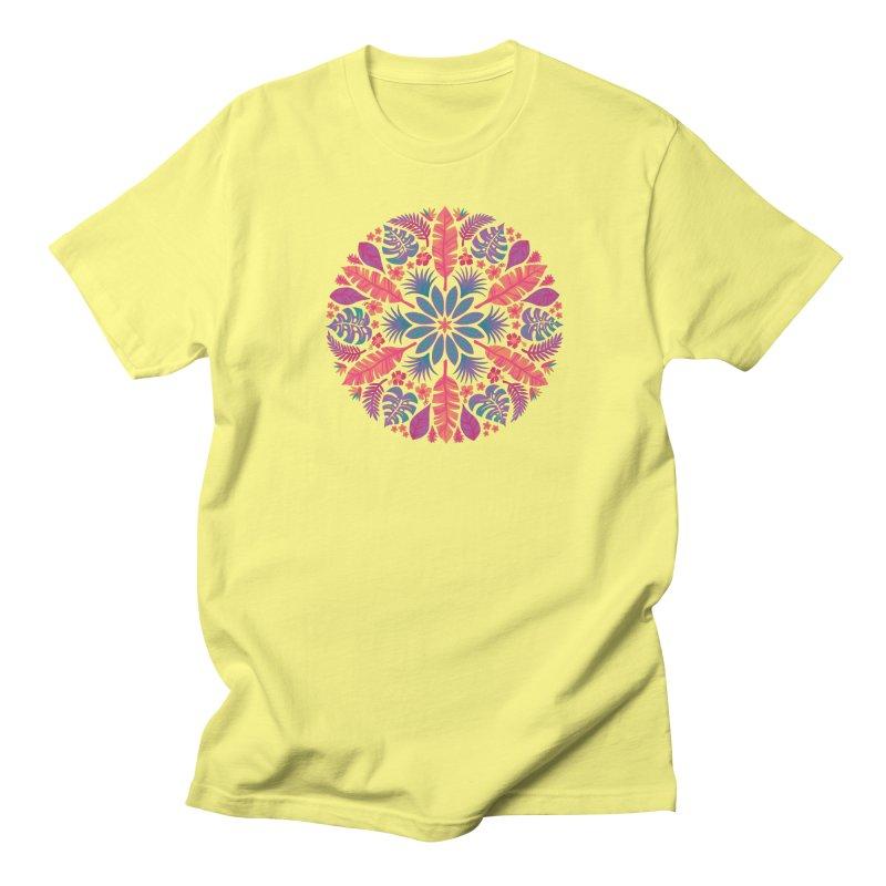Technicolour Tropical Sun Men's T-Shirt by Waynem