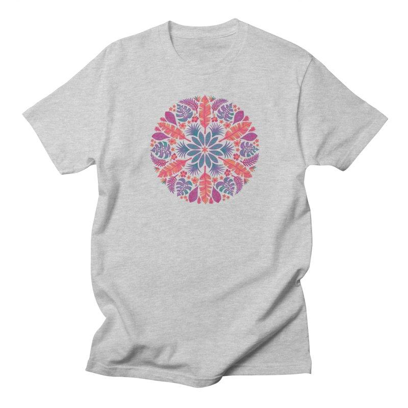 Technicolour Tropical Sun Men's Regular T-Shirt by Waynem