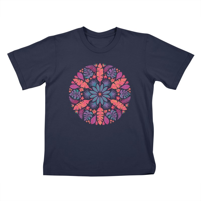 Technicolour Tropical Sun Kids T-Shirt by Waynem