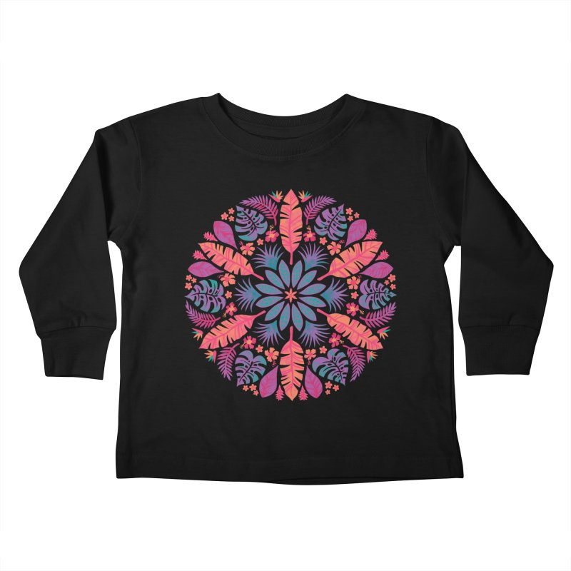 Technicolour Tropical Sun Kids Toddler Longsleeve T-Shirt by Waynem