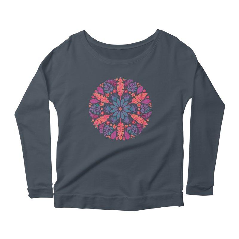 Technicolour Tropical Sun Women's Scoop Neck Longsleeve T-Shirt by Waynem