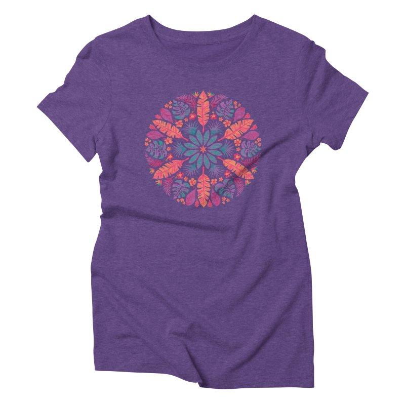 Technicolour Tropical Sun Women's Triblend T-Shirt by Waynem