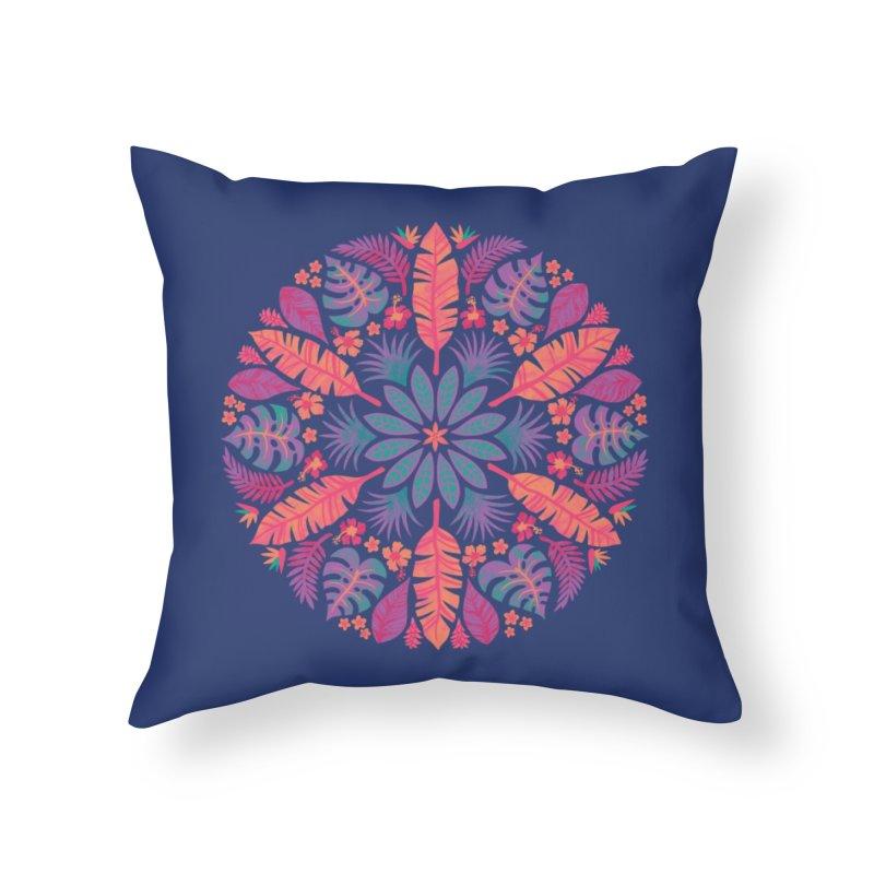 Technicolour Tropical Sun Home Throw Pillow by Waynem