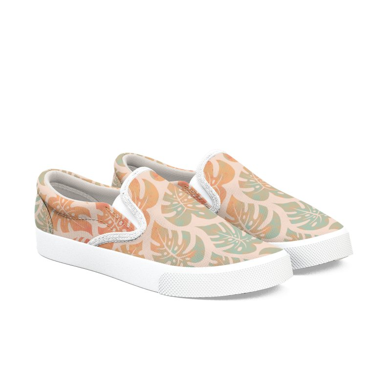 Monstera Mash Men's Slip-On Shoes by Waynem
