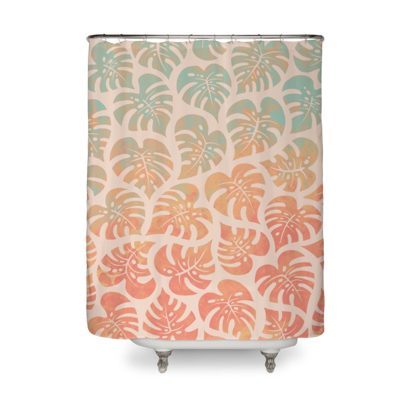Monstera Mash Home Shower Curtain by Waynem