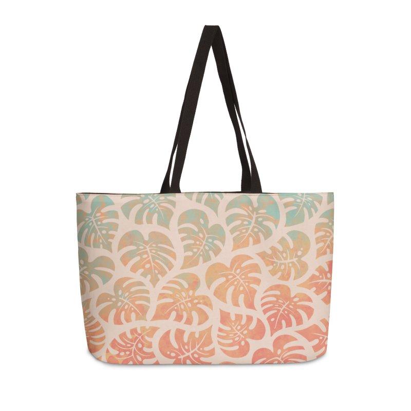 Monstera Mash Accessories Weekender Bag Bag by Waynem
