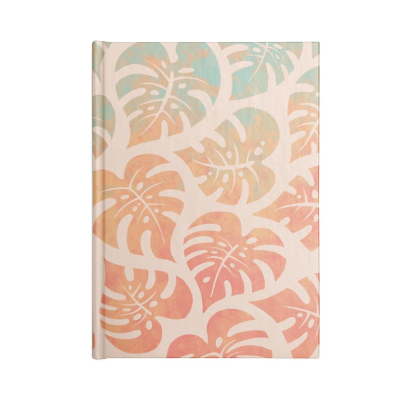 Monstera Mash Accessories Lined Journal Notebook by Waynem