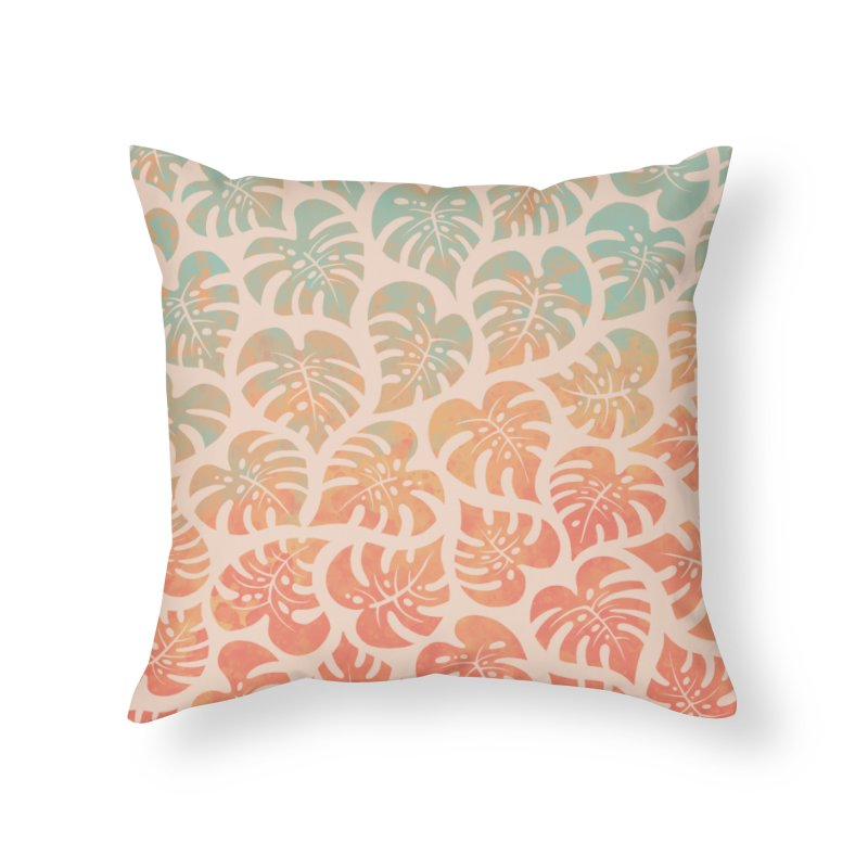 Monstera Mash Home Throw Pillow by Waynem