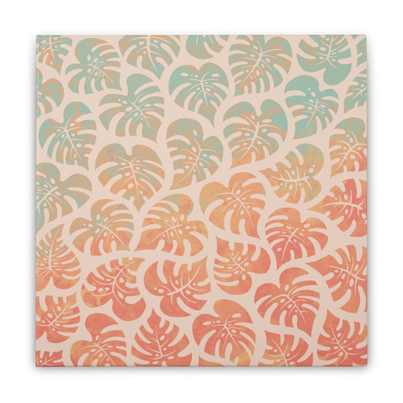 Monstera Mash Home Stretched Canvas by Waynem
