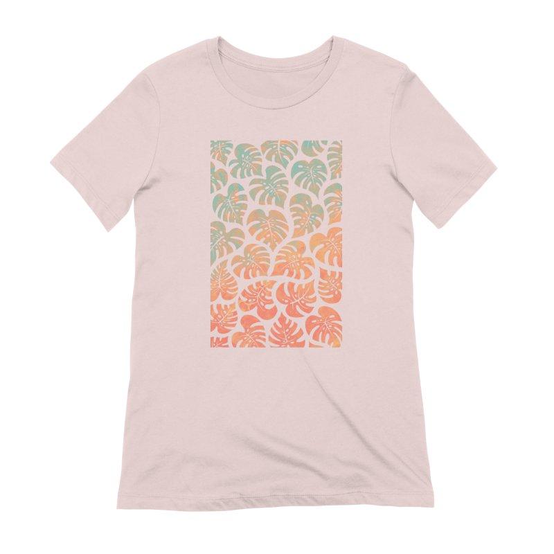 Monstera Mash Women's Extra Soft T-Shirt by Waynem