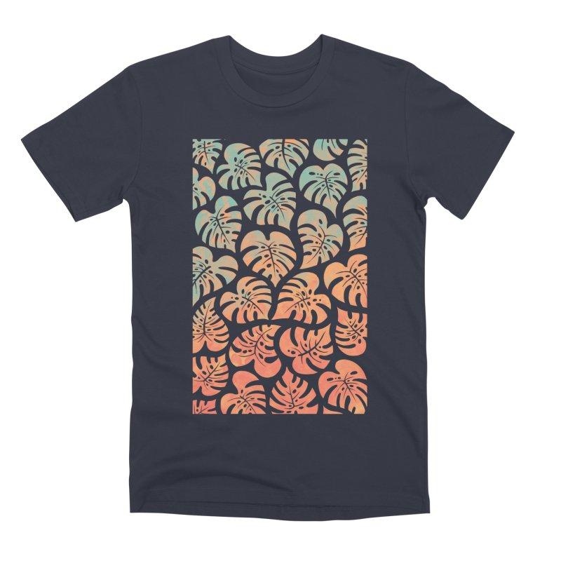Monstera Mash Men's Premium T-Shirt by Waynem