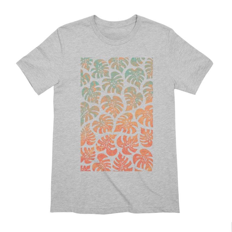 Monstera Mash Men's Extra Soft T-Shirt by Waynem