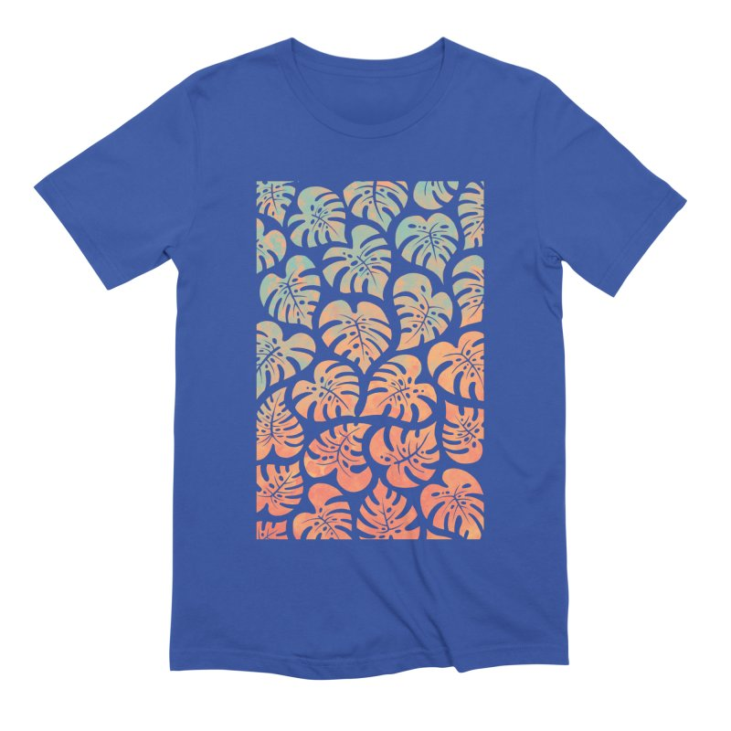 Monstera Mash Men's Extra Soft T-Shirt by Waynem
