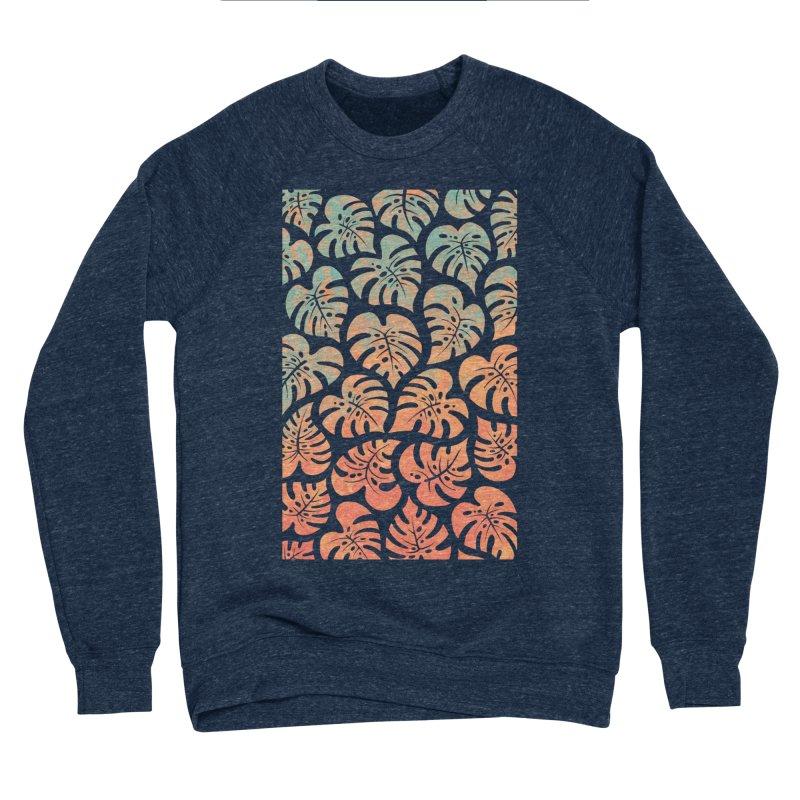Monstera Mash Men's Sponge Fleece Sweatshirt by Waynem