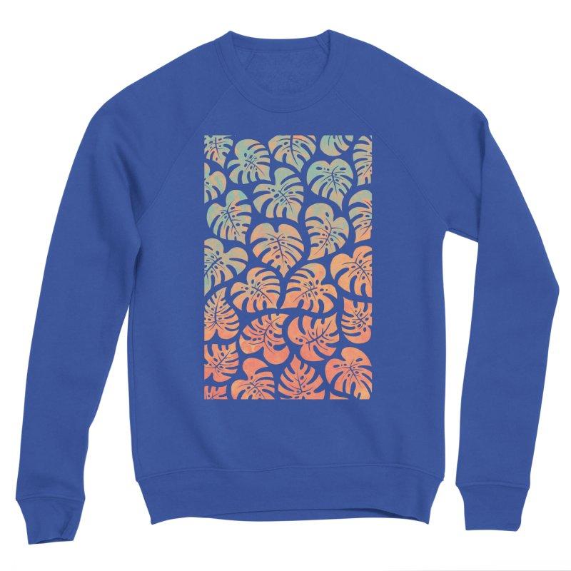 Monstera Mash Women's Sponge Fleece Sweatshirt by Waynem