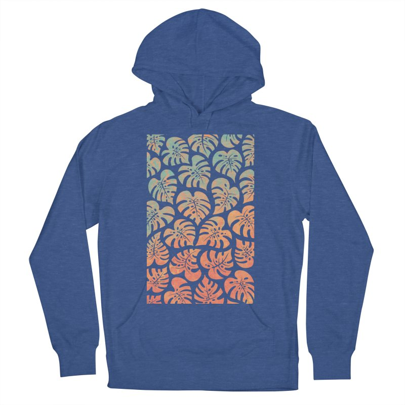 Monstera Mash Men's French Terry Pullover Hoody by Waynem