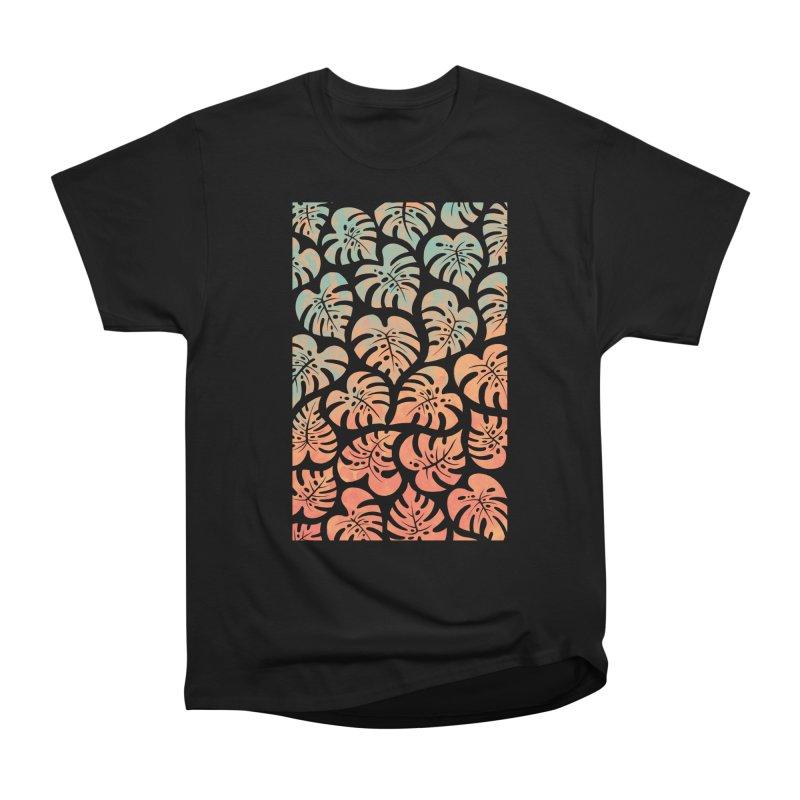 Monstera Mash Women's Heavyweight Unisex T-Shirt by Waynem