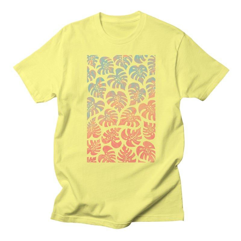 Monstera Mash Women's Regular Unisex T-Shirt by Waynem