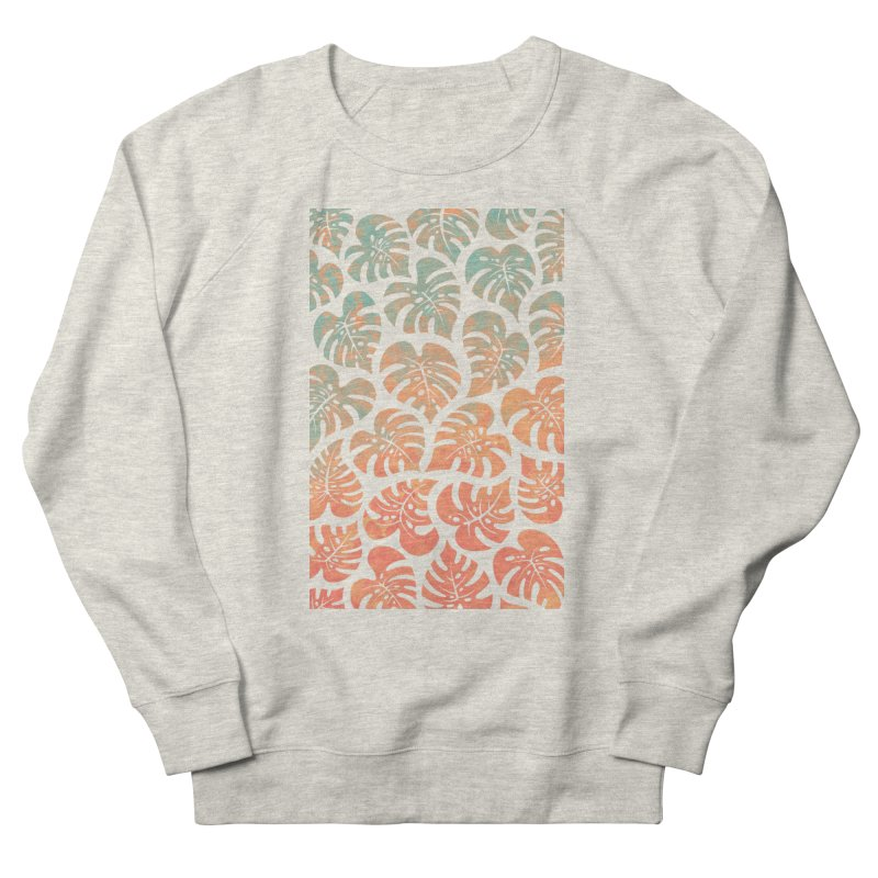 Monstera Mash Women's French Terry Sweatshirt by Waynem