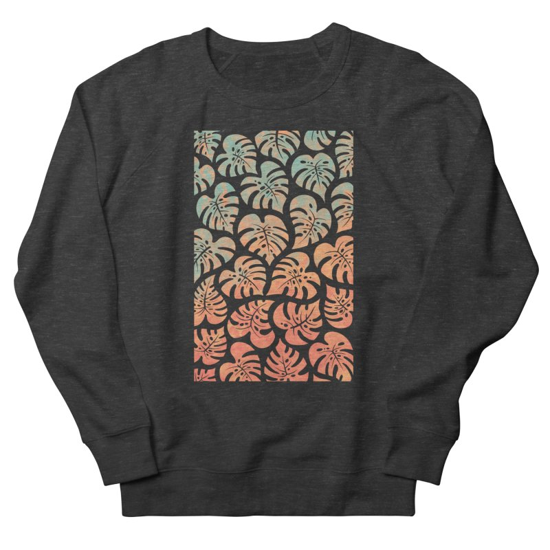 Monstera Mash Men's French Terry Sweatshirt by Waynem