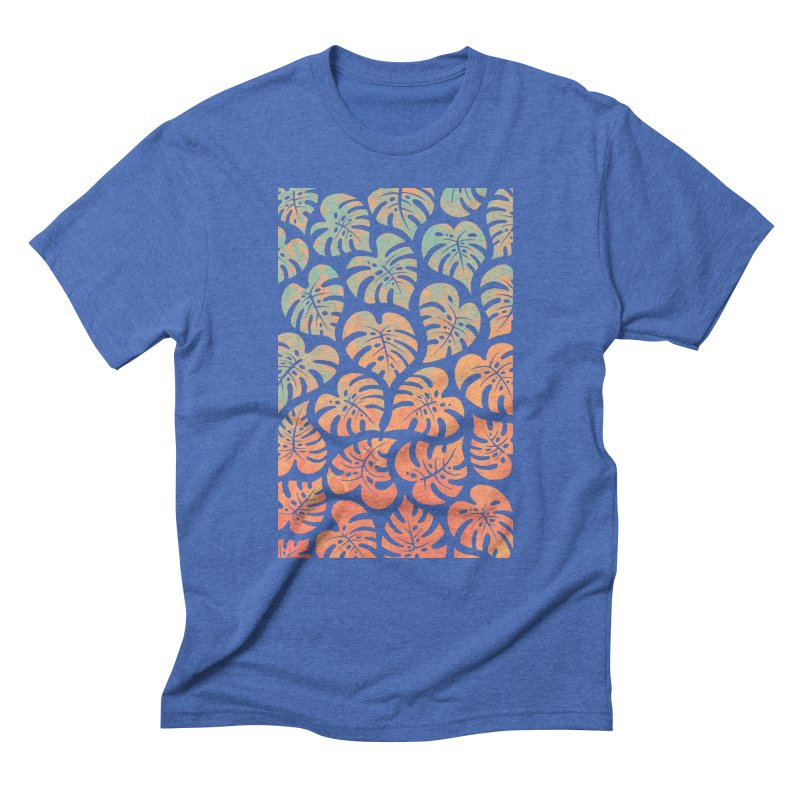 Monstera Mash Men's Triblend T-Shirt by Waynem