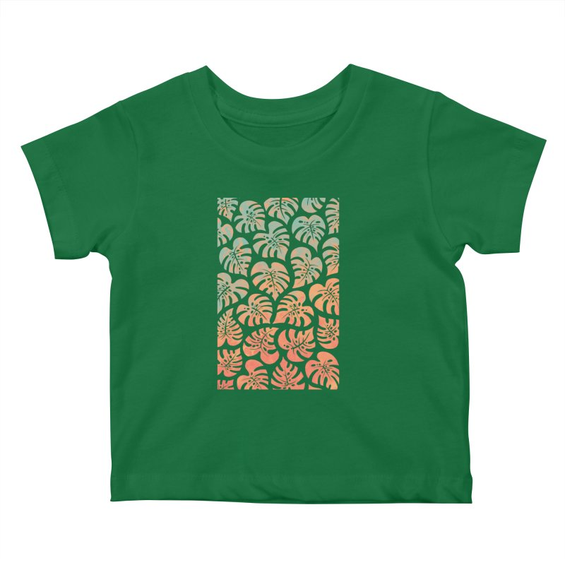 Monstera Mash Kids Baby T-Shirt by Waynem
