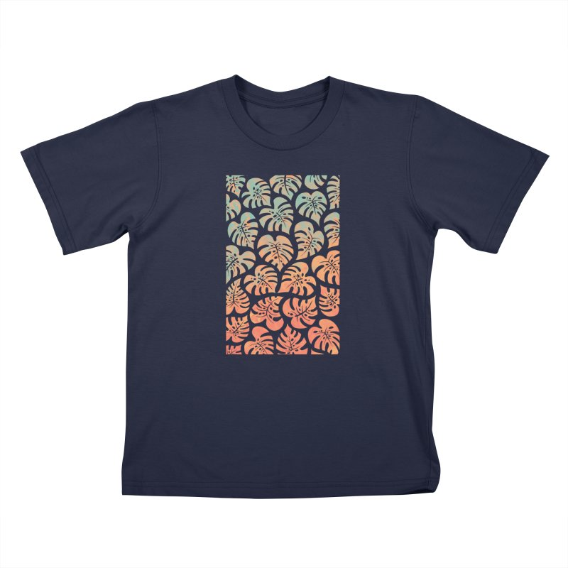 Monstera Mash Kids T-Shirt by Waynem