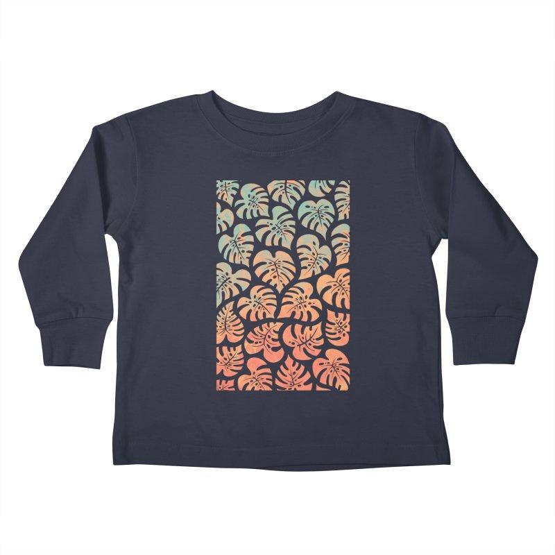 Monstera Mash Kids Toddler Longsleeve T-Shirt by Waynem