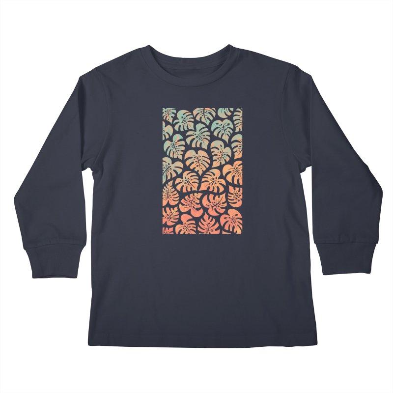 Monstera Mash Kids Longsleeve T-Shirt by Waynem
