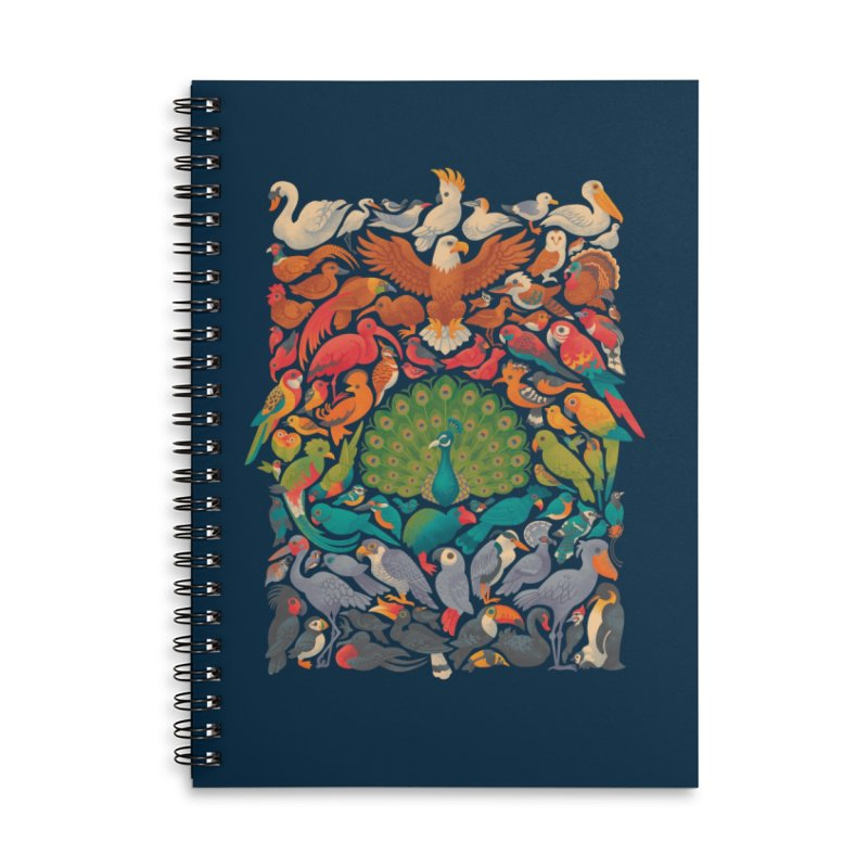 Aerial Spectrum Accessories Lined Spiral Notebook by Waynem