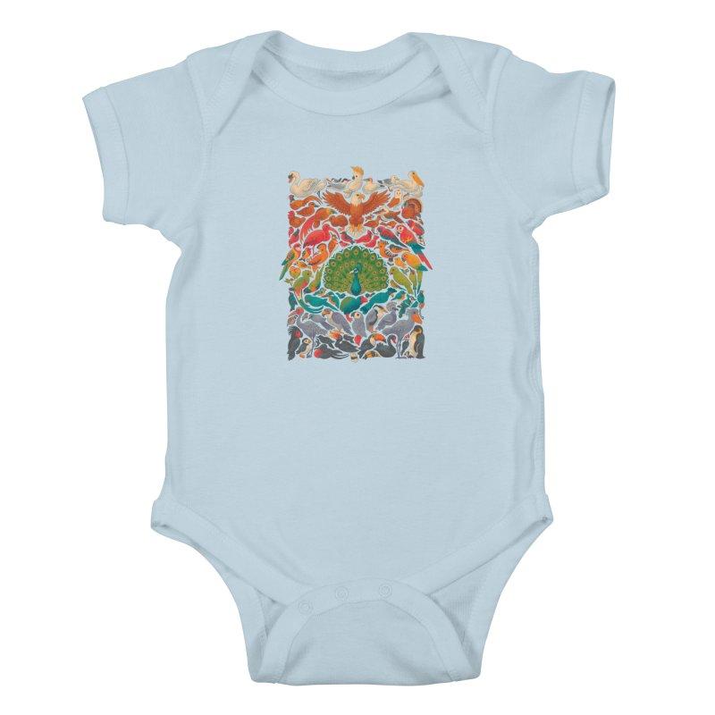 Aerial Spectrum Kids Baby Bodysuit by Waynem