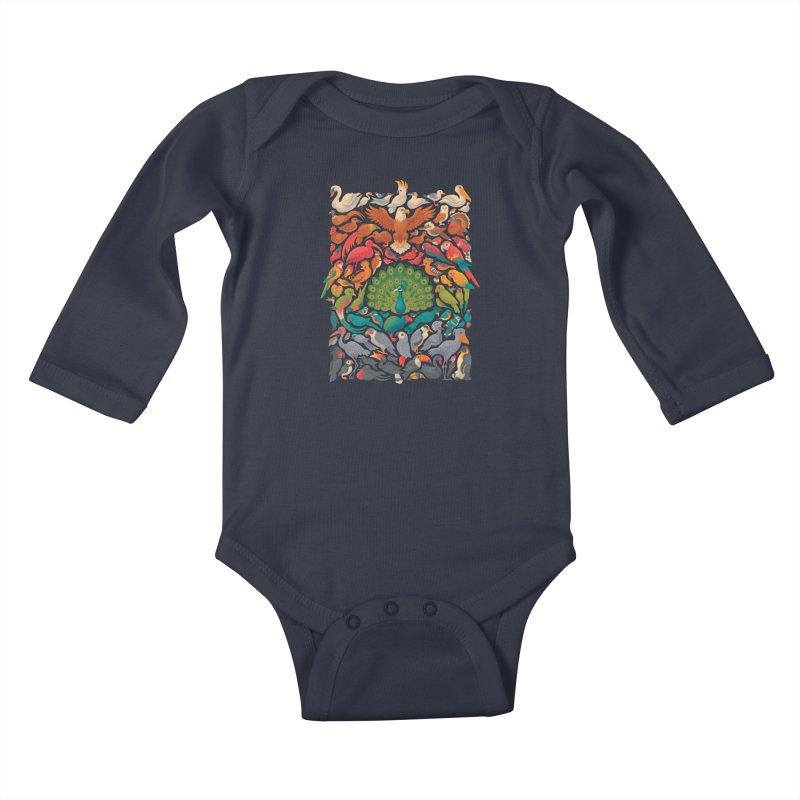 Aerial Spectrum Kids Baby Longsleeve Bodysuit by Waynem