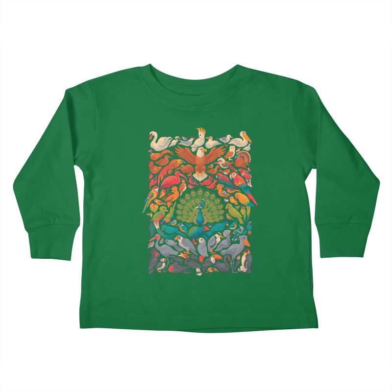Aerial Spectrum Kids Toddler Longsleeve T-Shirt by Waynem