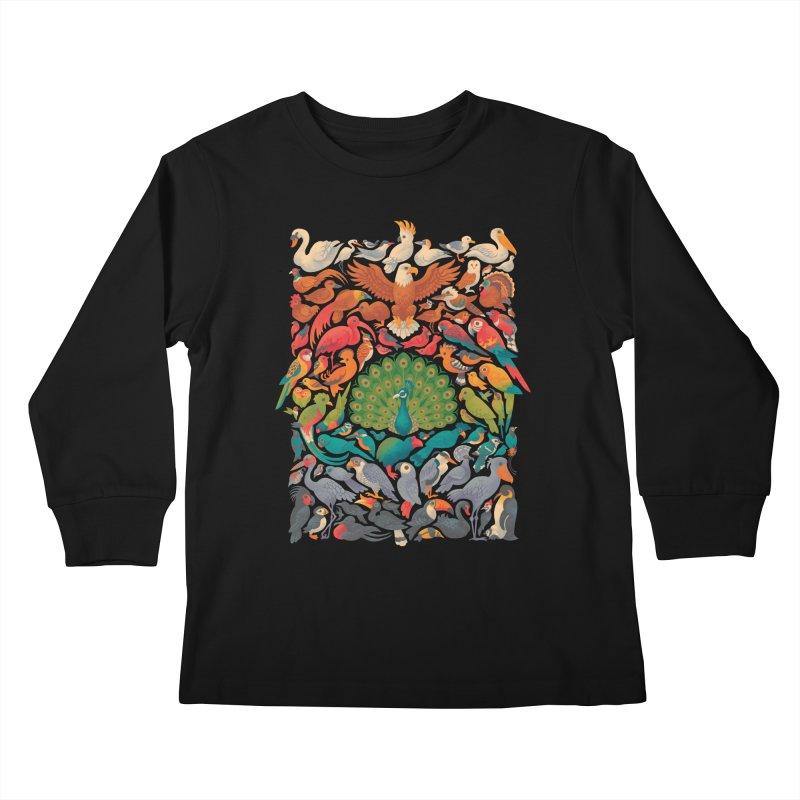 Aerial Spectrum Kids Longsleeve T-Shirt by Waynem