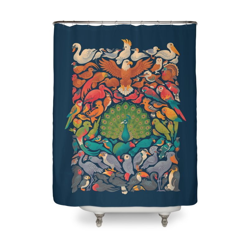Aerial Spectrum Home Shower Curtain by Waynem