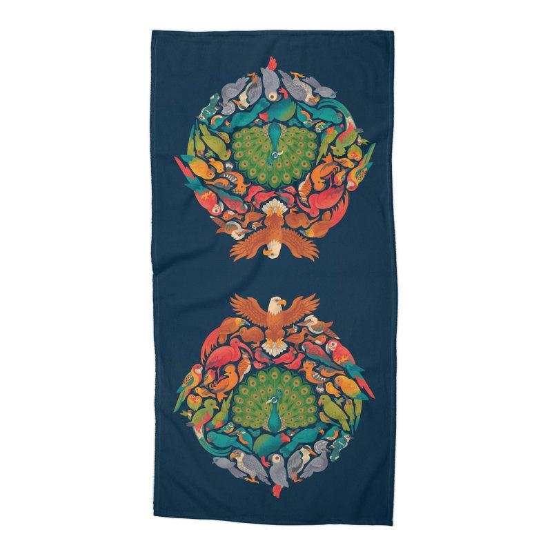Aerial Rainbow Accessories Beach Towel by Waynem