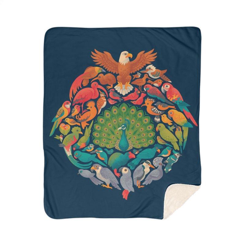 Aerial Rainbow Home Sherpa Blanket Blanket by Waynem