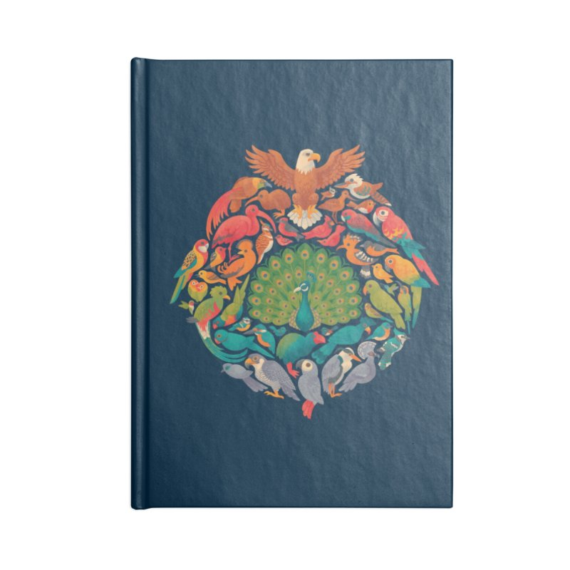 Aerial Rainbow Accessories Lined Journal Notebook by Waynem