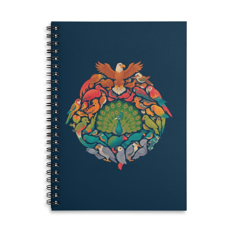 Aerial Rainbow Accessories Lined Spiral Notebook by Waynem