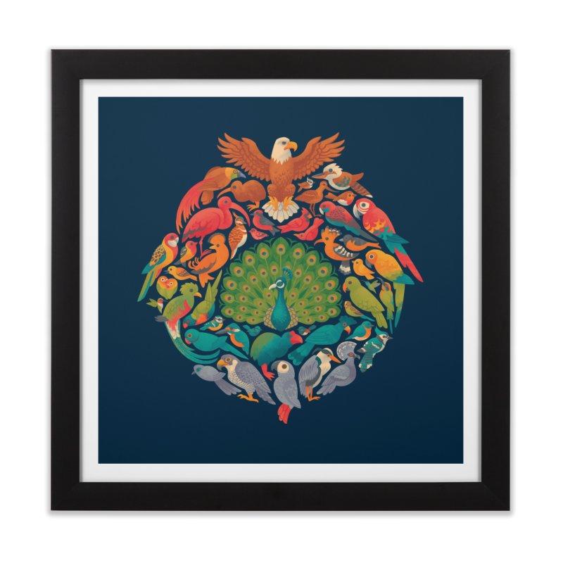 Aerial Rainbow Home Framed Fine Art Print by Waynem