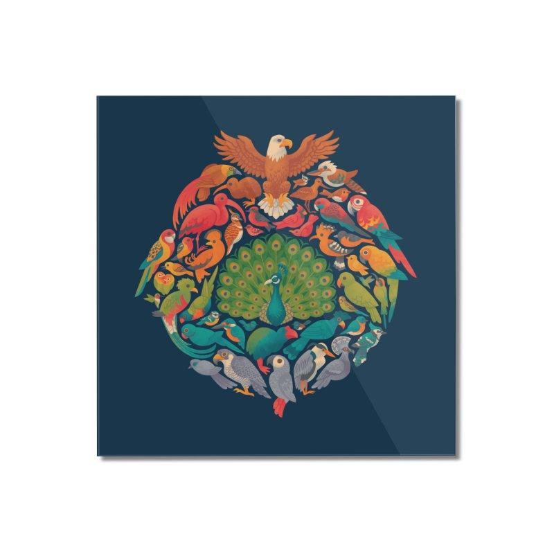 Aerial Rainbow Home Mounted Acrylic Print by Waynem
