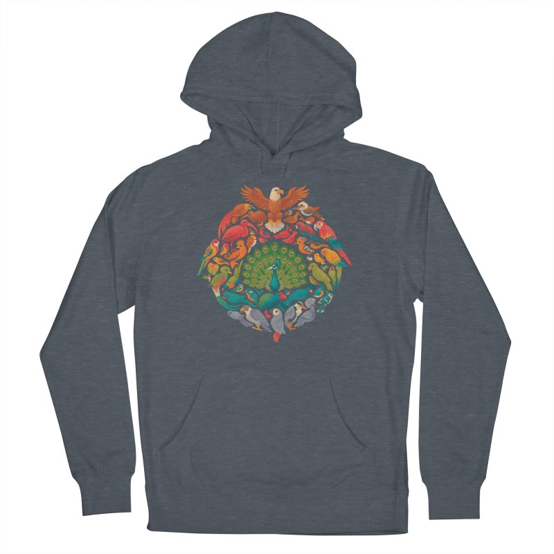 Aerial Rainbow Men's French Terry Pullover Hoody by Waynem