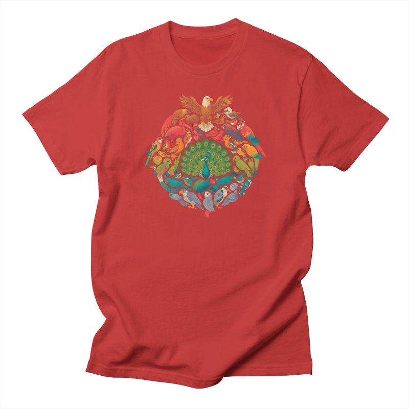 Aerial Rainbow Men's Regular T-Shirt by Waynem