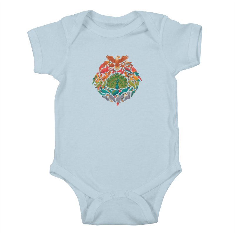 Aerial Rainbow Kids Baby Bodysuit by Waynem