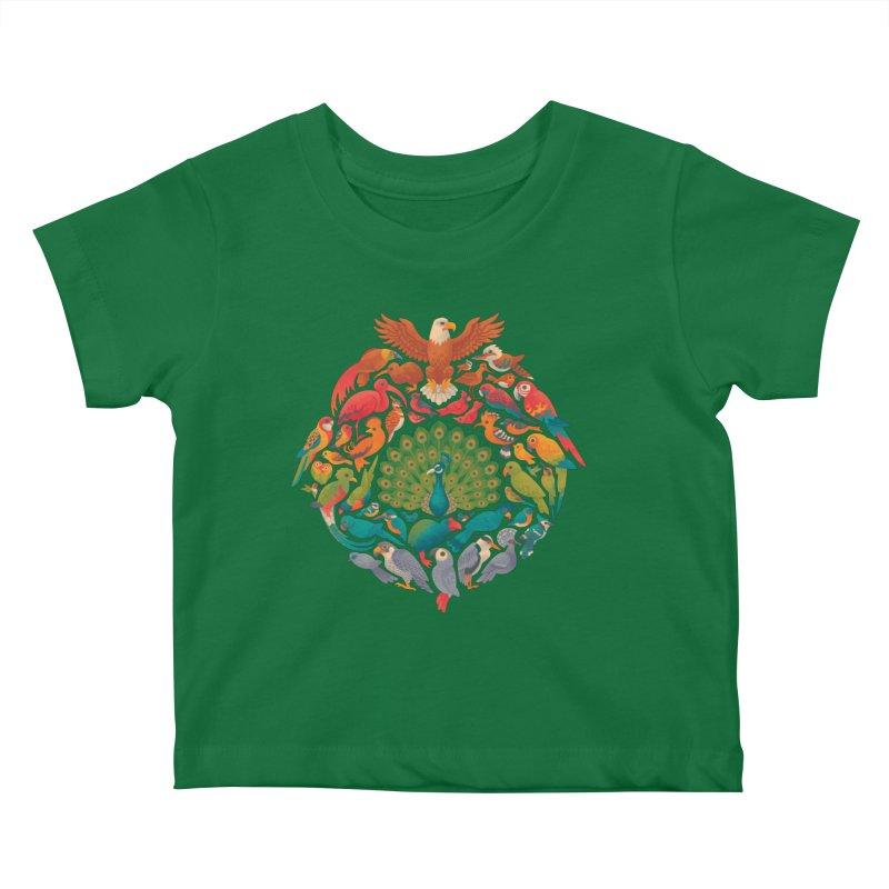 Aerial Rainbow Kids Baby T-Shirt by Waynem