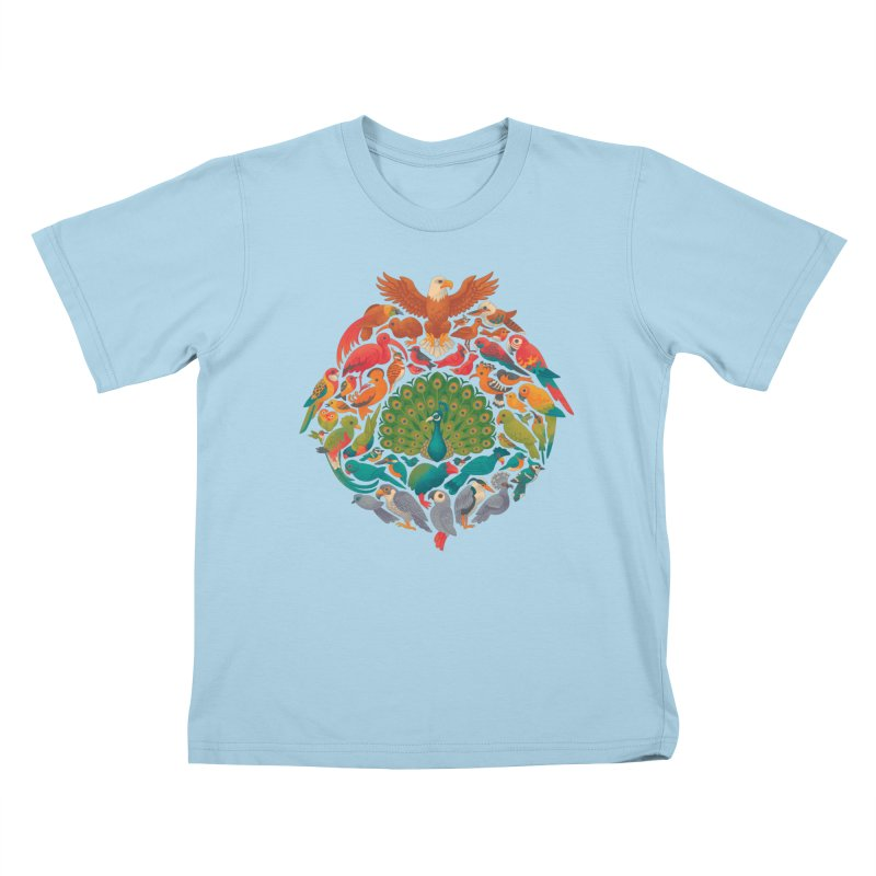 Aerial Rainbow Kids T-Shirt by Waynem