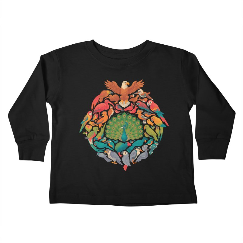 Aerial Rainbow Kids Toddler Longsleeve T-Shirt by Waynem