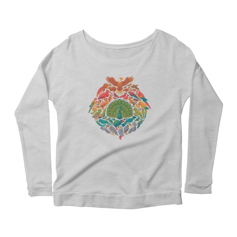 Aerial Rainbow Women's Scoop Neck Longsleeve T-Shirt by Waynem