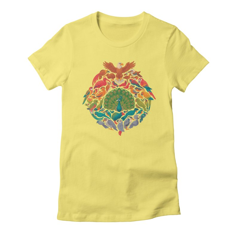 Aerial Rainbow Women's Fitted T-Shirt by Waynem